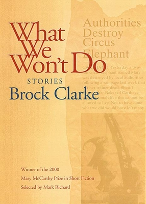 What We Won't Do: Stories - Clarke, Brock