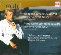 Wolfgang Amadeus Mozart: Klavierkonzert Nr. 22; Franz Xaver Wolfgang Mozart: Klavierkonzert Nr. 2 - Sebastian Knauer (piano); Netherlands Chamber Orchestra; Philippe Entremont (conductor)