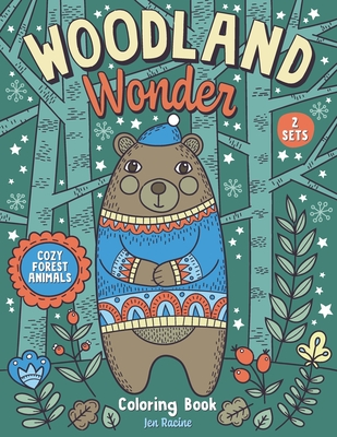 Woodland Wonder: Cozy Forest Animals Coloring Book -