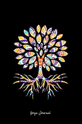 Yoga Journal: Dot Grid Journal - Tree Of Life Mandala Black Meditation Yoga Gift - Black Dotted Diary, Planner, Gratitude, Writing, Travel, Goal, Bullet Notebook - 6x9 120 pages - Yoga Journals, Gcjournals